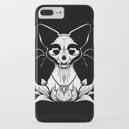 Sphynx Skull - Black and White Cat Flower Dark Art iPhone Case