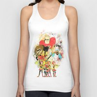pixar Tank Tops featuring Disney Pixar Play Parade - Incredibles Unit by Joey Noble
