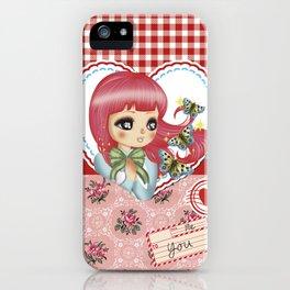 retro love iPhone Case