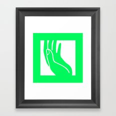 Holy hand Framed Art Print