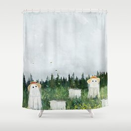 There's Ghosts By The Apiary Again... Shower Curtain