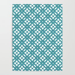 Floral Country Chic Design Pattern Poster