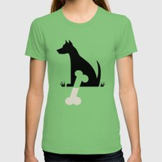 Gave a Dog a Bone (Green) Womens Fitted Tee LARGE Grass