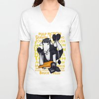 mia wallace V-neck T-shirts featuring Mia by J. Neto