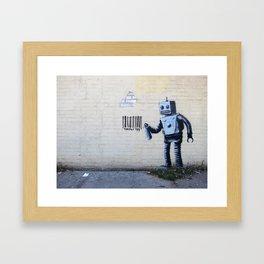Banksy, Robot Framed Art Print