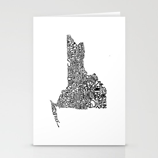 Typographic New York Stationery Cards
