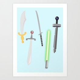 swords Art Print