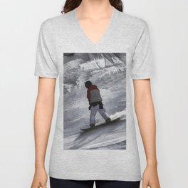 "Snowboarder ""just cruisin'"" Winter Sports Gift Unisex V-Neck"