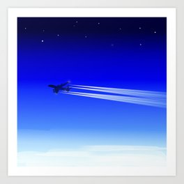 Jet Heading Home Art Print