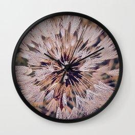 Dew On Dandelion Wall Clock