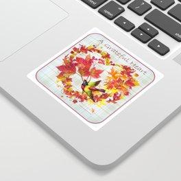 A Grateful Heart Sticker