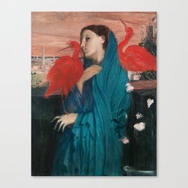 Young Woman with Ibis by Edgar Degas Canvas Print