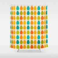 chihiro Shower Curtains featuring my neighbor pattern by ururuty