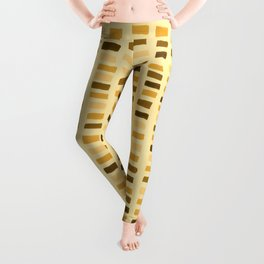 Painted Color Block Rectangles in Yellow Leggings