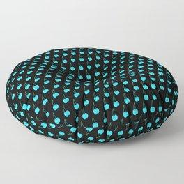 Blue Cherries Floor Pillow