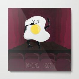 Dancing Food Metal Print