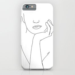 Diana Line Drawing iPhone Case
