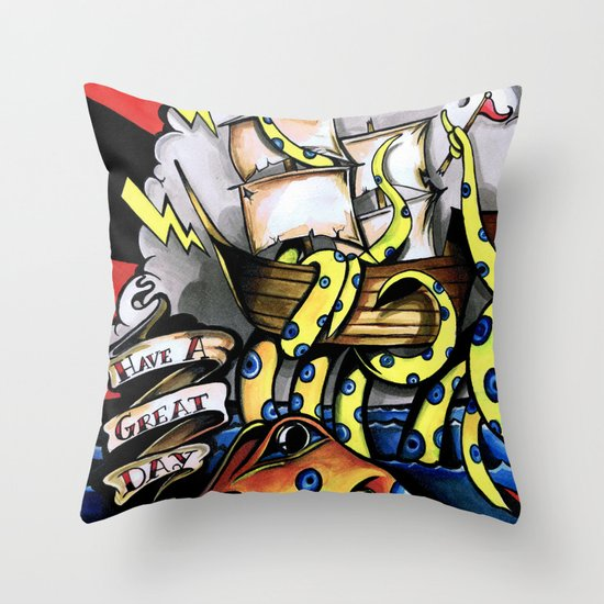 ceplalopod attack squad Throw Pillow
