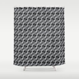 Abstract Hexagon Pattern Shower Curtain