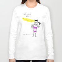 miley cyrus Long Sleeve T-shirts featuring MILEY CYRUS by WASTED RITA