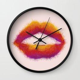 LIPS - RAINBOW Wall Clock