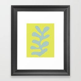Oak Leaf — Bluegrey Framed Art Print