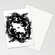 Enso black and white minimal watercolor japanese abstract painting zen art Stationery Cards