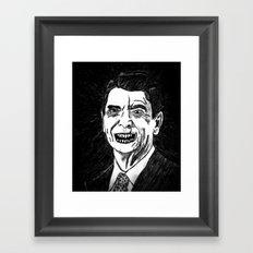 40. Zombie Ronald Reagan Framed Art Print