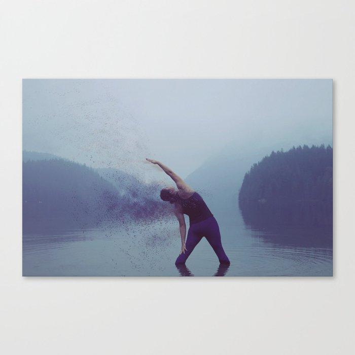 Yoga in the Fog Canvas Print
