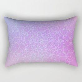 Rainbow Blue Mandala Rectangular Pillow