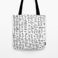 code Tote Bags featuring Code by nefos