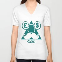 picasso V-neck T-shirts featuring Picasso  by Dr. Idol. Clothing