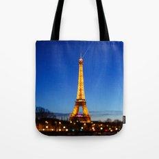 Eiffel Tower and Bokeh. Tote Bag
