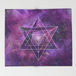 Metatron's Merkaba  Throw Blanket