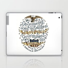 small government, larger freedom Laptop & iPad Skin