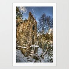 Snow tower Art Print