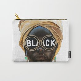 Black Woman Carry-All Pouch