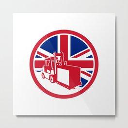 British Logistics Union Jack Flag Icon Metal Print