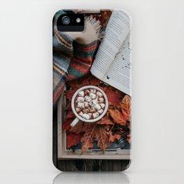 Marshmallows, Hot Chocolate, Autumn iPhone Case