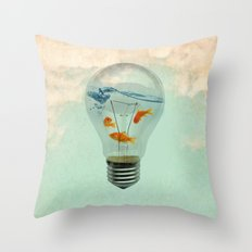 ideas and goldfish 02 Throw Pillow