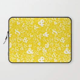 Ampersands - Yellow Laptop Sleeve