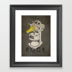 ROCK - Fan Art Film Poster Framed Art Print
