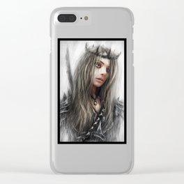 Dark Crown Clear iPhone Case