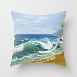 Crimea Throw Pillow