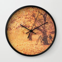 Autumn - New York City Wall Clock