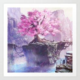 Japan Sakura Beautiful Art Print