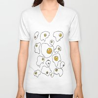 egg V-neck T-shirts featuring Egg  by Kimberly Bones