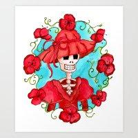 Catrina Doña Carlota Art Print