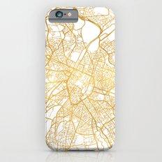 BRUSSELS BELGIUM CITY STREET MAP ART iPhone 6s Slim Case