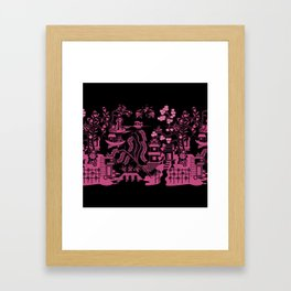 Gooo Willow in Black and pink Framed Art Print